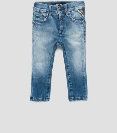 Girls' elastic waist jeans- REPLAY&SONS PG9241_051_41A-380_001_1