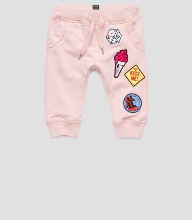 Girls' sweatpants with patches- REPLAY&SONS PG9265_050_20516_379_1