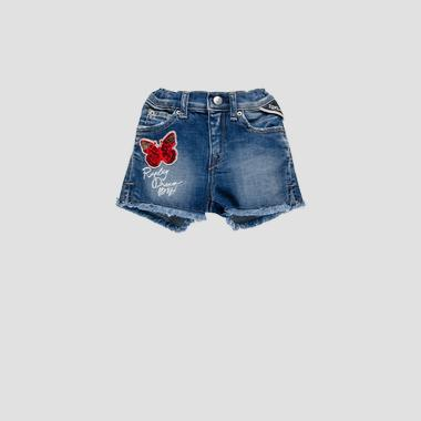Denim short pants with butterfly- REPLAY&SONS PG9583_051_115-439_001_1