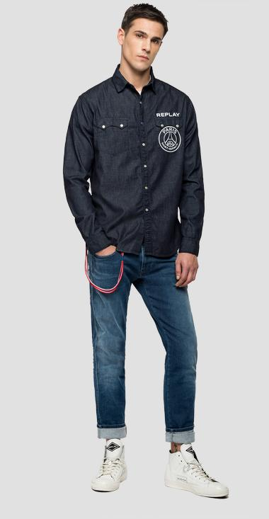 Replay PSG rinse denim shirt - Replay PSG422_000_168-G07_007_1