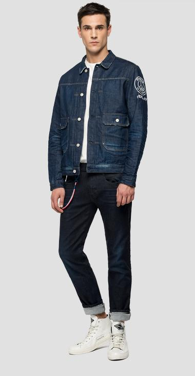 Replay PSG dark denim jacket - Replay PSG860_000_172-G76_009_1