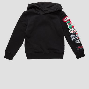 Sweatshirt with coloured patch- REPLAY&SONS SB2422_050_22739_098_1