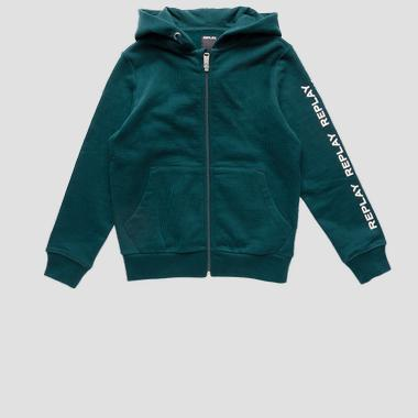 Hoodie with zipper- REPLAY&SONS SB2440_051_20372C_135_1