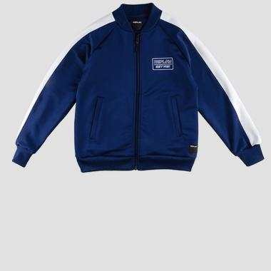 Replay sweatshirt with pockets and zipper- REPLAY&SONS SB2714_050_83682_187_1