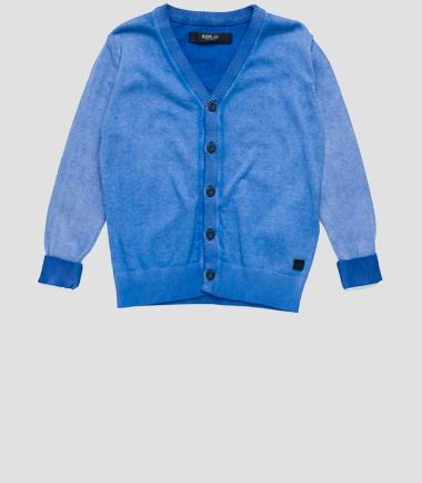 Boys' button-front cardigan- REPLAY&SONS SB5039_050_G20784A_961_1