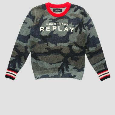 Camouflage sweater- REPLAY&SONS SB5054_050_G22574_030_1