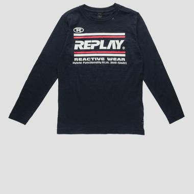 T-shirt with lettering print- REPLAY&SONS SB7060_088_22336G_099_1