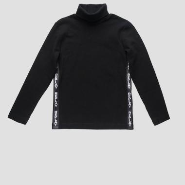 Turtleneck t-shirt with writings- REPLAY&SONS SB7114_050_20639_099_1