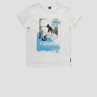 Regular fit t-shirt with surf print- REPLAY&SONS SB7308_022_22872_010_1