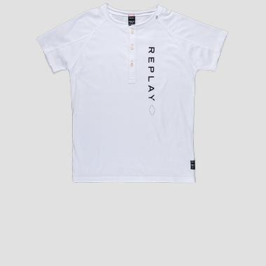 Regular fit t-shirt with buttons- REPLAY&SONS SB7311_050_20994_001_1