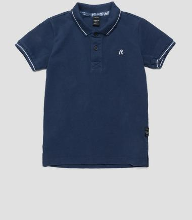 Boys' regular-fit solid polo shirt- REPLAY&SONS SB7524_050_20334_177_1
