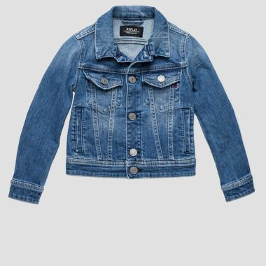 Denim jacket with writing- REPLAY&SONS SB8100_060_573-408_001_1