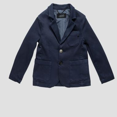 Single-breasted jacket in technical cotton- REPLAY&SONS SB8133_051_21649_085_1