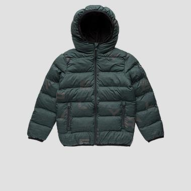 Padded jacket with all-over print- REPLAY&SONS SB8192_050_83798KC_135_1