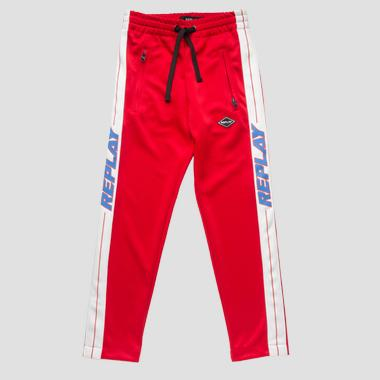 Sporty trousers with writings- REPLAY&SONS SB9004_050_22610_354_1
