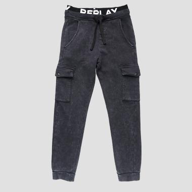 Cotton cargo trousers- REPLAY&SONS SB9212_050_20372G_099_1