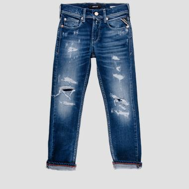 Regular fit jeans with breakages- REPLAY&SONS SB9328_071_51C-465_001_1