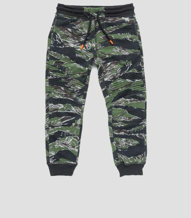Boys' camouflage print sweatpants- REPLAY&SONS SB9337_050_22739L_011_1