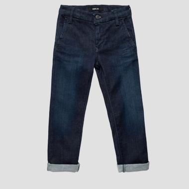 Slim fit Hyperflex jeans- REPLAY&SONS SB9384_052_661-419_001_1