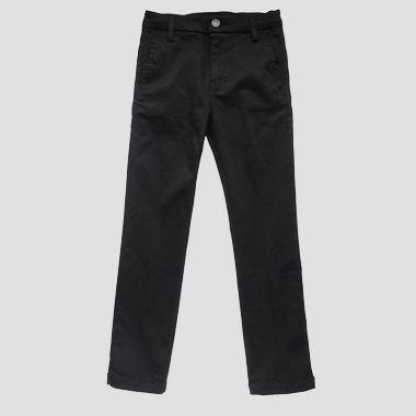 Slim fit Hyperflex chino trousers- REPLAY&SONS SB9384_053_661-03B_001_1
