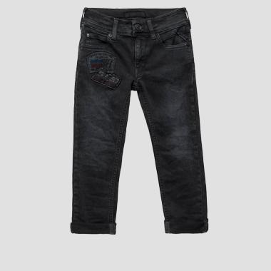Slim fit jeans with patch- REPLAY&SONS SB9385_055_75C-486_001_1