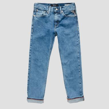 Slim ergonomic fit jeans- REPLAY&SONS SB9387_052_17B-809_001_1