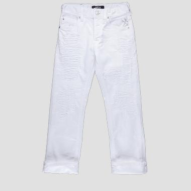 Regular fit jeans with tears- REPLAY&SONS SB9394_054_8005238_001_1