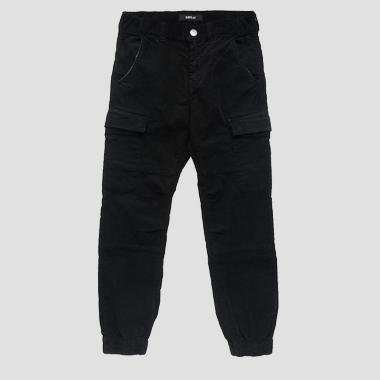Multi-pocket cargo trousers- REPLAY&SONS SB9396_050_8082990_099_1
