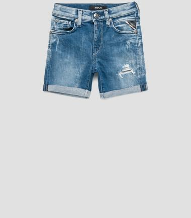 Boys' drop-crotch slim shorts- REPLAY&SONS SB9537_053_549-320_001_1