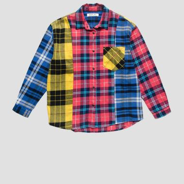 Multicoloured checked shirt- REPLAY&SONS SG1063_050_52210KE_010_1