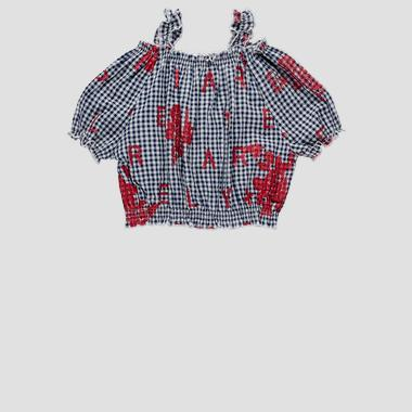Cami top with gingham pattern- REPLAY&SONS SG1709_050_52274_010_1