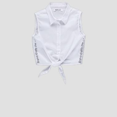 Sleeveless shirt with knot- REPLAY&SONS SG1710_050_80279A_001_1