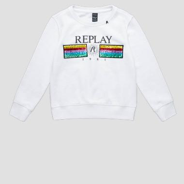 Sweatshirt with sequins- REPLAY&SONS SG2059_057_29868_001_1