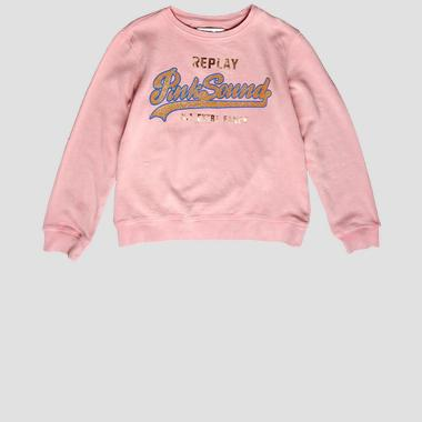 Sweatshirt with glitter lettering print- REPLAY&SONS SG2059_059_22072_561_1