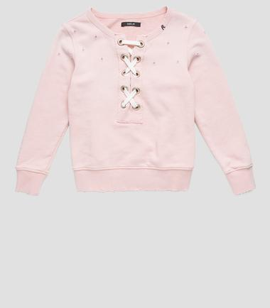 Girls' cotton sweatshirt- REPLAY&SONS SG2067_050_20516_379_1