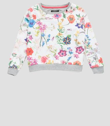 Girls' floral sweatshirt- REPLAY&SONS SG2068_050_29868H_010_1
