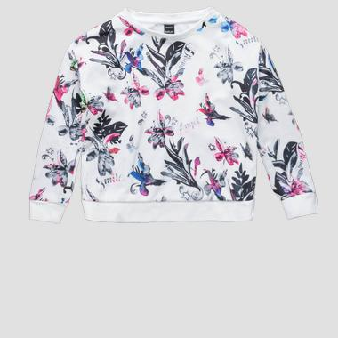 Sweatshirt with floral print- REPLAY&SONS SG2084_052_29868KS_010_1