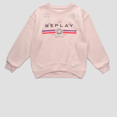 Sweat REPLAY à strass- REPLAY&SONS SG2492_050_20225_166_1