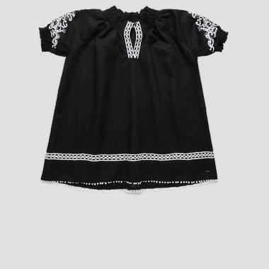Dress with contrasting embroideries- REPLAY&SONS SG3173_050_83324_098_1