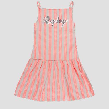 Striped dress with sequins- REPLAY&SONS SG3192_051_52296_010_1