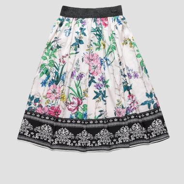 Long skirt with floral print- REPLAY&SONS SG4703_054_80822KL_010_1