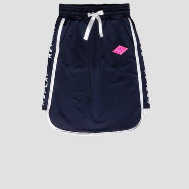 REPLAY skirt with drawstring- REPLAY&SONS SG4716_050_83682_910_1