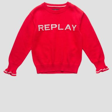 Sweater with REPLAY writing- REPLAY&SONS SG5315_050_G21280T_457_1