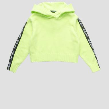 Cropped sweater with hood- REPLAY&SONS SG5316_050_G22730B_343_1
