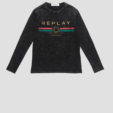 REPLAY ESTABLISHED 1981 t-shirt- REPLAY&SONS SG7091_065_22658M_098_1