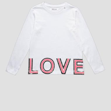 T-shirt with LOVE writing- REPLAY&SONS SG7091_067_22660G_001_1