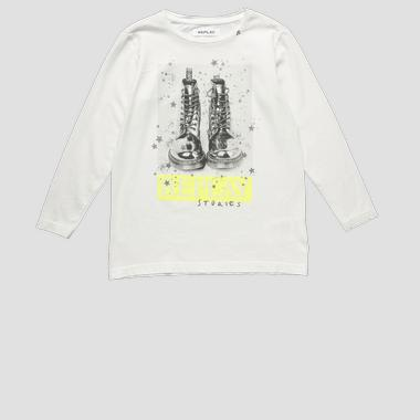 T-shirt with Boots print- REPLAY&SONS SG7132_050_22660G_012_1