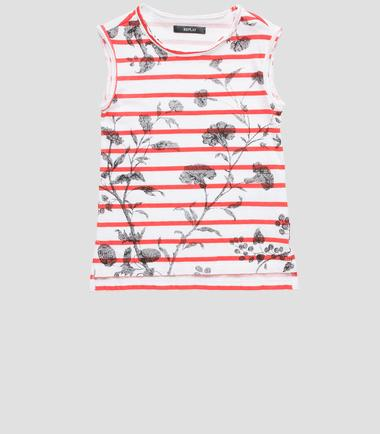 Girls' striped top- REPLAY&SONS SG7452_050_20994P_024_1