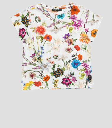 Girls' floral T-shirt- REPLAY&SONS SG7461_050_20760H_010_1