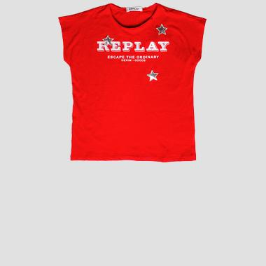 T-shirt with sequins stars- REPLAY&SONS SG7489_050_22858_814_1